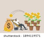 passive income  salary and... | Shutterstock .eps vector #1894119571