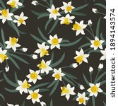 seamless plant pattern with...   Shutterstock .eps vector #1894143574
