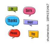 set of pop art speech colored...   Shutterstock .eps vector #1894151467