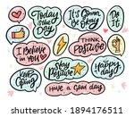 positive doodles phrases set....   Shutterstock .eps vector #1894176511