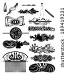 silhouettes of barrettes... | Shutterstock .eps vector #189419231