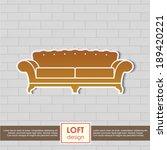 vintage sofa vector symbol....   Shutterstock .eps vector #189420221