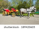 Horse Drawn Carriage With Horses