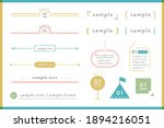 a set of simple designs such as ... | Shutterstock .eps vector #1894216051