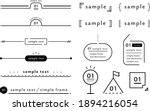 a set of simple designs such as ... | Shutterstock .eps vector #1894216054