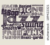 "Retro design ""Jazz music"". typography vector illustration."