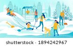 Crowded Winter Playground For...