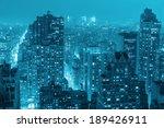 top night view of  manhattan.... | Shutterstock . vector #189426911