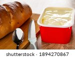 Bread  Spoon  Knife On Cutting...