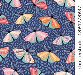 bohemian seamless pattern with...   Shutterstock .eps vector #1894278937