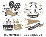 party label vector logo for... | Shutterstock .eps vector #1894303321