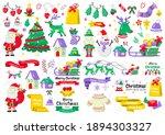 christmas label vector logo for ... | Shutterstock .eps vector #1894303327