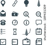 business icons set | Shutterstock .eps vector #189431309