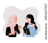 female colleague having a... | Shutterstock .eps vector #1894327027