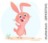 cartoon bunny rabbit character. ...   Shutterstock .eps vector #1894337641