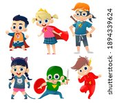 kids in colorful costumes of... | Shutterstock . vector #1894339624