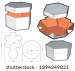 top and bottom hexagonal self... | Shutterstock .eps vector #1894349821