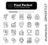 testimonials thin line icons... | Shutterstock .eps vector #1894357117