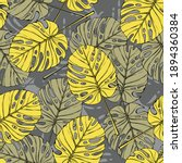 tropical leaves seamless...   Shutterstock .eps vector #1894360384
