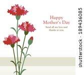 carnations for mother | Shutterstock .eps vector #189436085