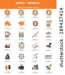 stock exchange   finance icons...   Shutterstock .eps vector #189437414