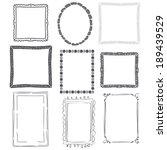 set of decorative grey... | Shutterstock .eps vector #189439529