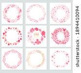set of round frames of flowers... | Shutterstock .eps vector #1894410094