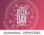 national pizza day. february 9. ... | Shutterstock .eps vector #1894411081