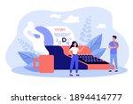 creative tiny writers writing... | Shutterstock .eps vector #1894414777
