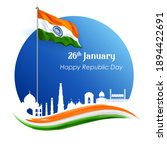 illustration of famous indian... | Shutterstock .eps vector #1894422691