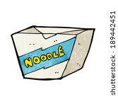 cartoon noodle box | Shutterstock .eps vector #189442451