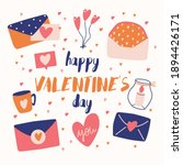 big collection of love objects...   Shutterstock .eps vector #1894426171