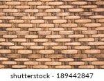 wicker woven rattan pattern ... | Shutterstock . vector #189442847