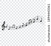 music notes  musical design...   Shutterstock .eps vector #1894443361