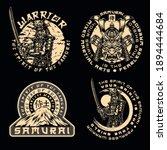 samurai vintage monochrome... | Shutterstock .eps vector #1894444684