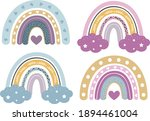 baby rainbow clipart  nursery... | Shutterstock .eps vector #1894461004