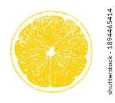 lemon slice  clipping path ... | Shutterstock .eps vector #1894465414