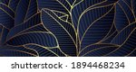 luxury golden leaf and natural. ... | Shutterstock .eps vector #1894468234