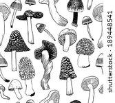 hand drawn vector pattern.... | Shutterstock .eps vector #189448541