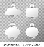 3d blank white round wobbler....   Shutterstock .eps vector #1894492264