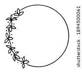 circle round frame  trendy boho ... | Shutterstock .eps vector #1894500061