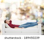 home  leisure and happiness... | Shutterstock . vector #189450239