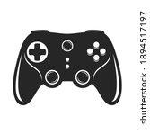 Gamepad Bold Black Silhouette...