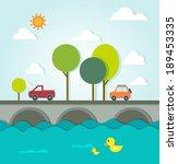 urban landscape paper | Shutterstock .eps vector #189453335