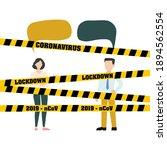 quarantine. precautions against ... | Shutterstock .eps vector #1894562554