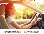woman driver driving a car | Shutterstock . vector #189460034