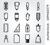 drawing and painting tools icons