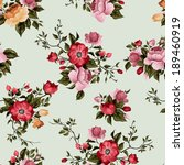 seamless floral pattern with of ... | Shutterstock .eps vector #189460919