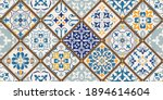 seamless colorful patchwork...   Shutterstock .eps vector #1894614604