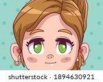 cute little blond girl comic... | Shutterstock .eps vector #1894630921